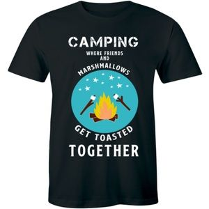 Camping Where Friends And Marshmallows Men T-shirt